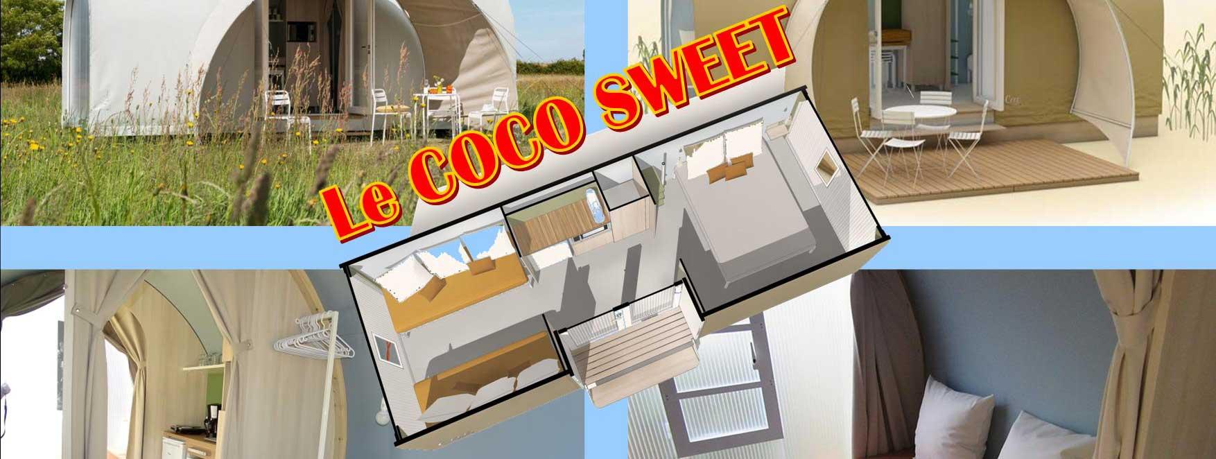 La tente sweet coco, un mixte réussi entre la tente de camping et le mobil-home.